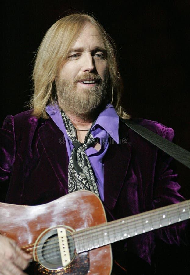 Tom Petty Wykonuje w koncercie fotografia royalty free