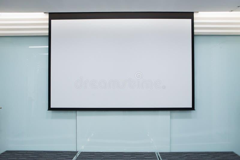 Tom projektionsskärm, presentationsbräde arkivfoto
