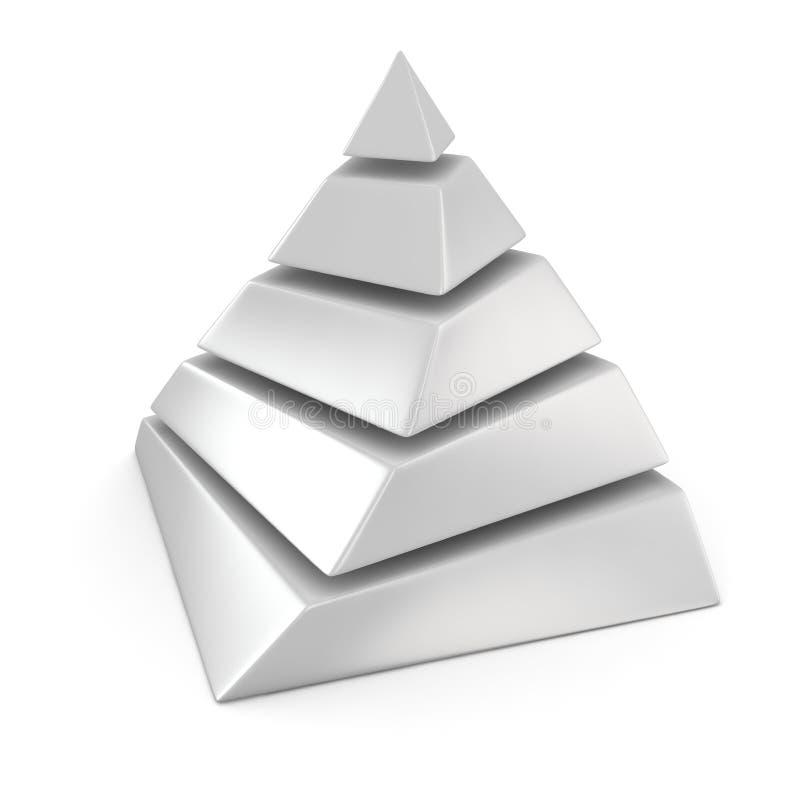 Tom pyramid royaltyfri illustrationer