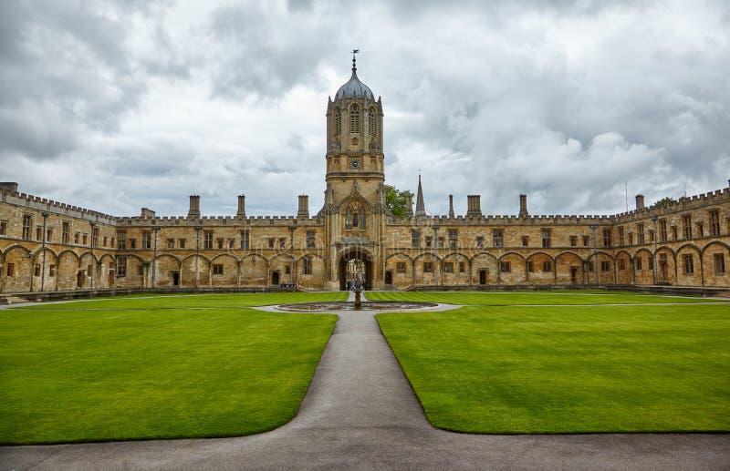 Tom Quad. Oxford University. England stock photo
