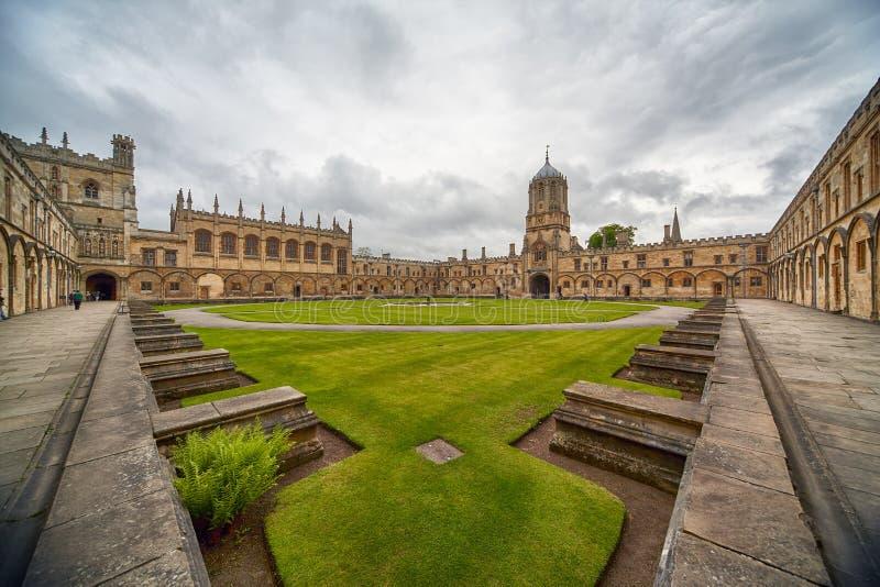 Tom Quad Universidade de Oxford inglaterra fotografia de stock