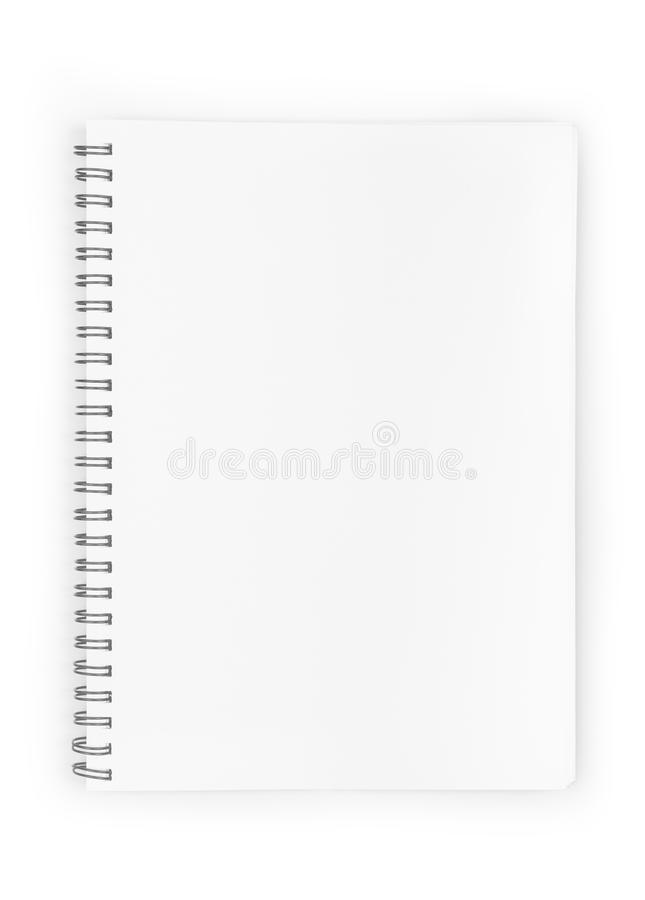 Tom realistisk spiral notepadanteckningsbok arkivbilder