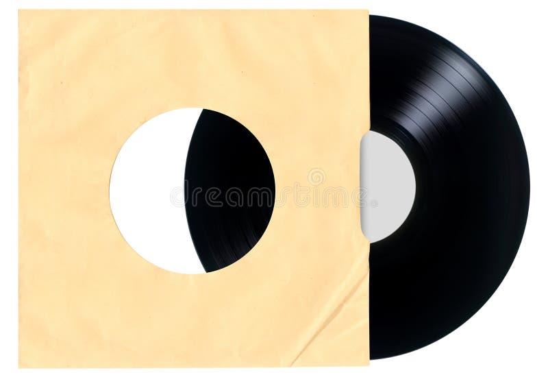 Tom rekord- muff för vinyl arkivbild