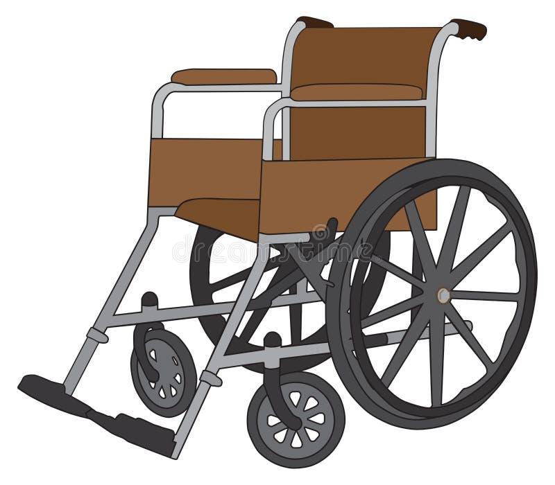 tom rullstol vektor illustrationer