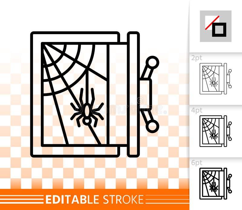 Tom säker enkel svart linje vektorsymbol stock illustrationer