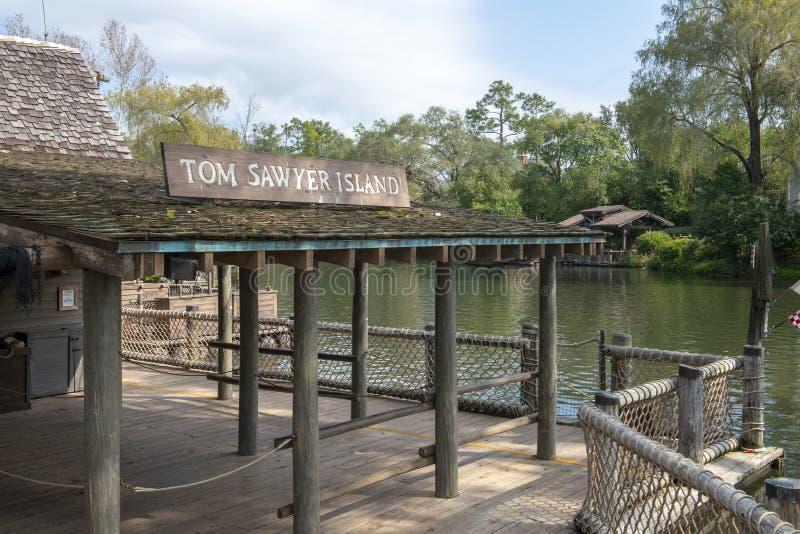 Tom Sawyer Island Disney World, magiskt kungarike royaltyfri fotografi