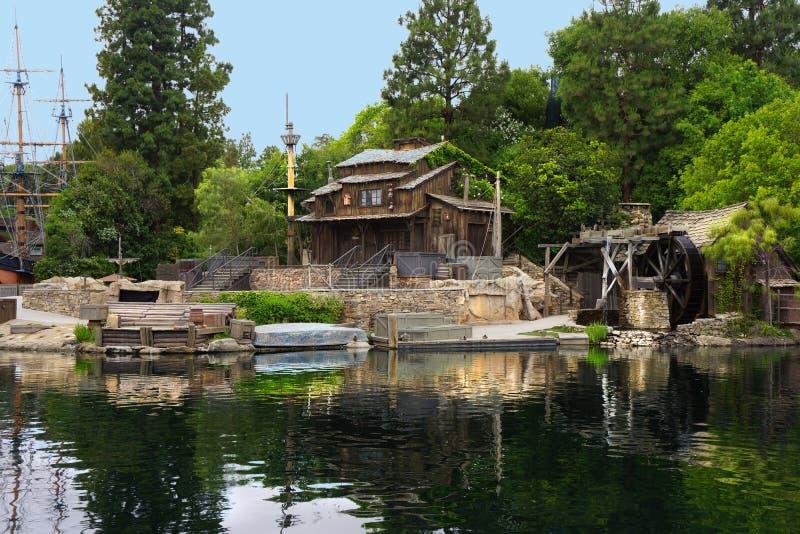 Tom Sawyer Island Disneyland fotografering för bildbyråer