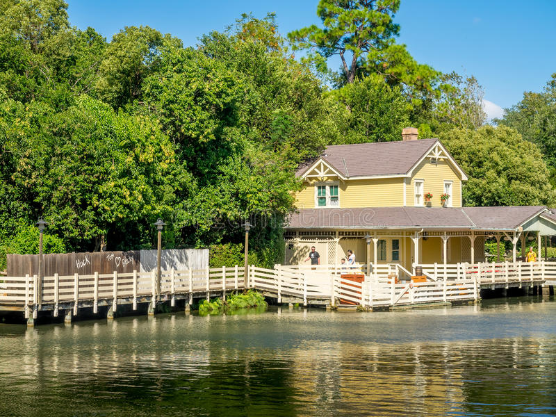 Tom Sawyer Island, monde de Disney photos libres de droits