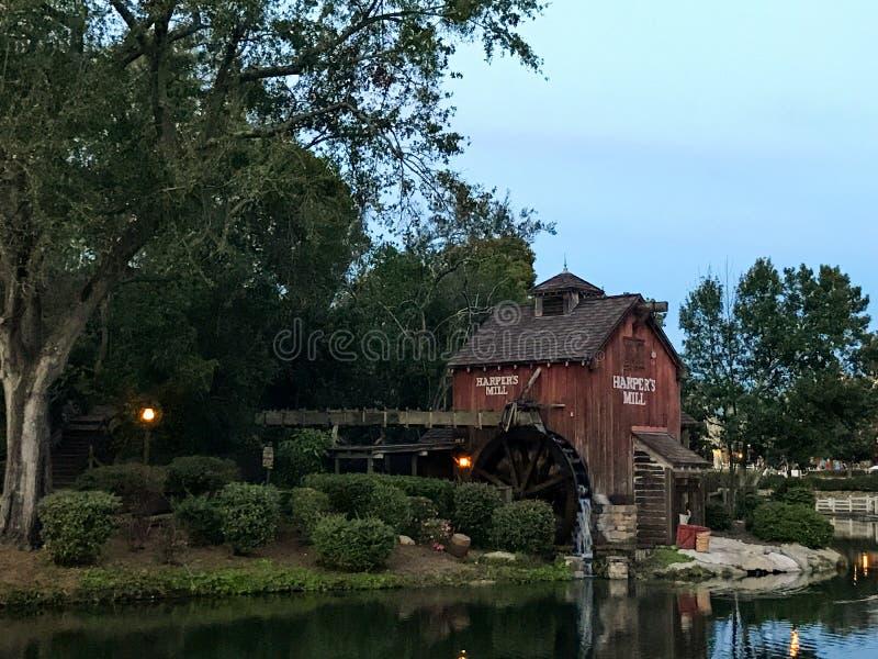 Tom Sawyer Island på den Disney världen, Orlando, FL arkivfoton