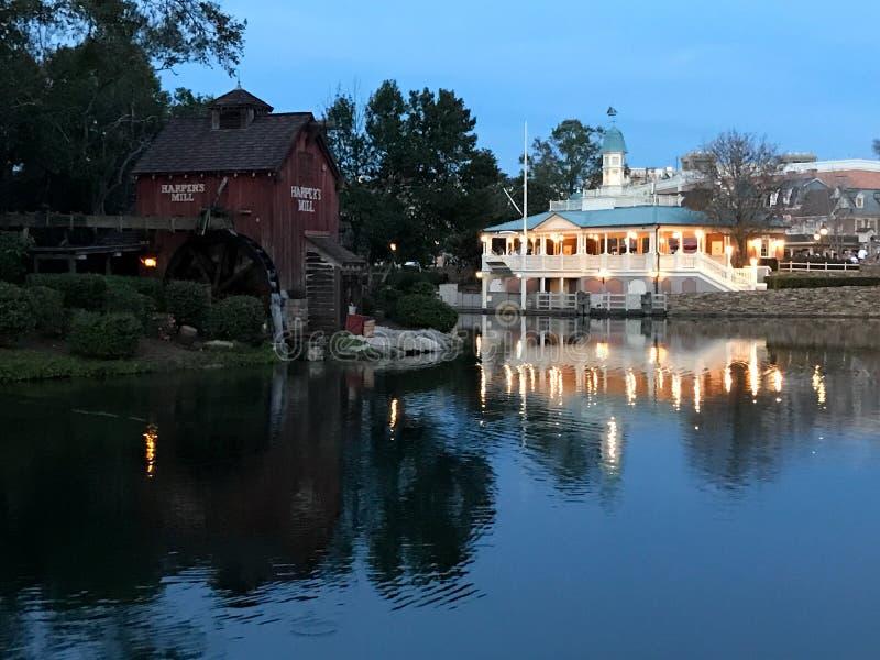 Tom Sawyer Island på den Disney världen, Orlando, FL royaltyfri foto