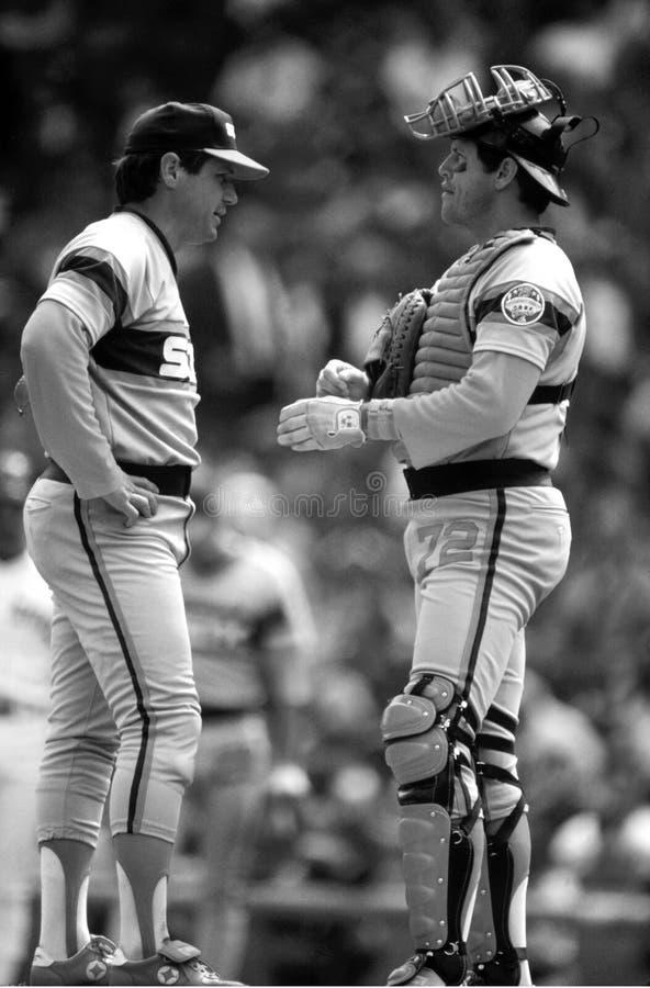 Tom Seaver & Charlton Fisk Chicago White Sox fotografia stock