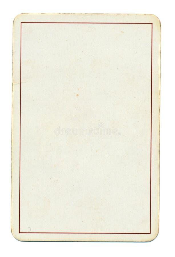 Tom spela pappers- bakgrund för kort med linjen som isoleras på vit arkivbilder