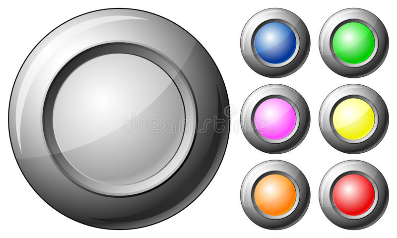 tom sphere för knapp vektor illustrationer