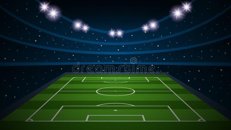 Tom stadion för arena för fotbollfält, vektorillustration vektor illustrationer