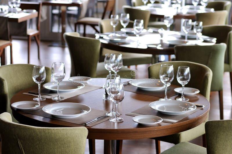 tom starttabell för restaurang 5 arkivbilder