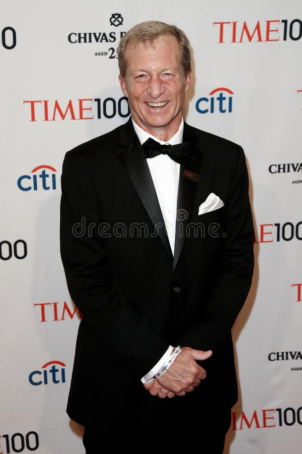 Tom Steyer. NEW YORK-APR 29: Environmentalist Tom Steyer attends the Time 100 Gala celebrating its Time 100 Issue of the Most Influential People in the World at stock image