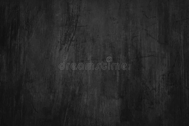 Tom svart tavlabakgrund med skrapor och dammdetaljen av skrapad svart tavlayttersida arkivbild