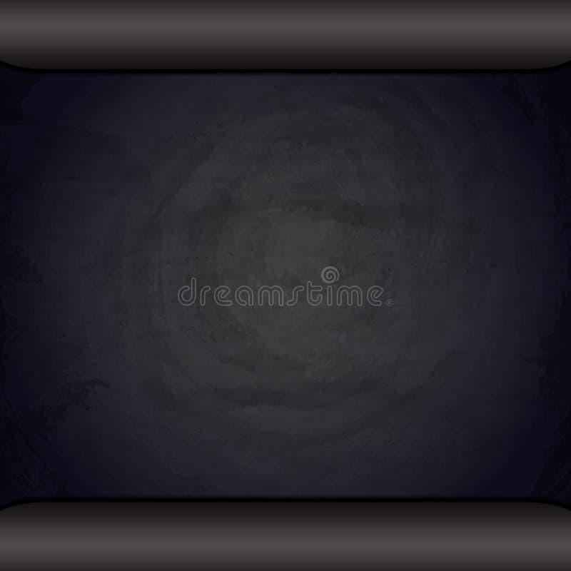 Tom svart svart tavlasvart tavlabakgrund stock illustrationer
