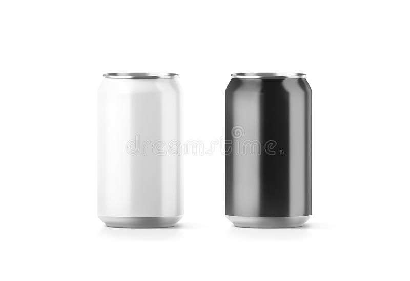 Tom svartvit aluminium modell för sodavattencan vektor illustrationer