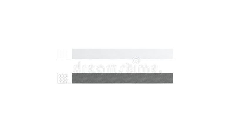 Tom svartvit pappers- armbandåtlöje upp, stock illustrationer
