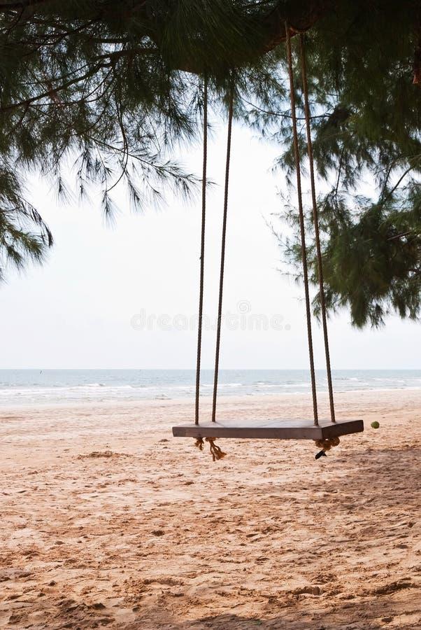 tom swing för strand fotografering för bildbyråer