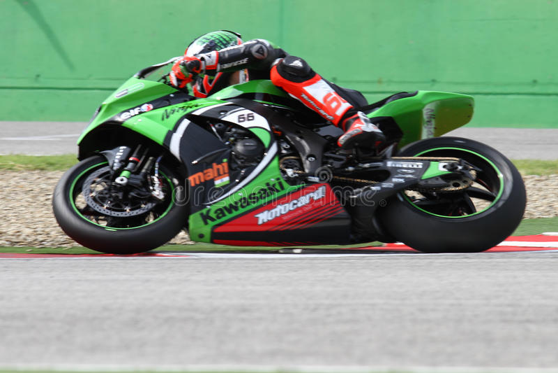 Tom Sykes #66 on Kawasaki ZX-10R Kawasaki Racing Team Superbike WSBK stock images