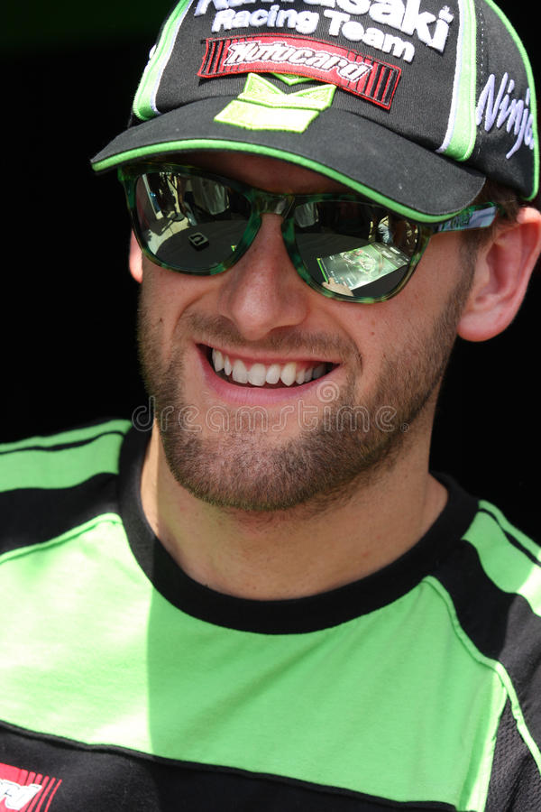 Tom Sykes #66 on Kawasaki ZX-10R Kawasaki Racing Team Superbike WSBK stock images