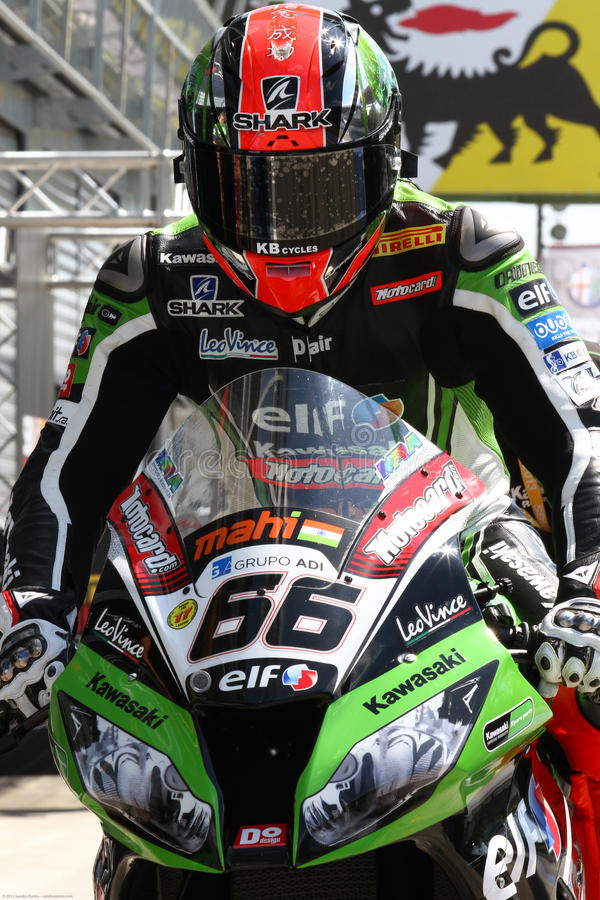 Tom Sykes #66 on Kawasaki ZX-10R Kawasaki Racing Team Superbike WSBK stock photo