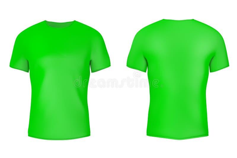 Tom T-tröja för Closeupgräsplan med tomt utrymme för din design framf?rande 3d royaltyfri foto