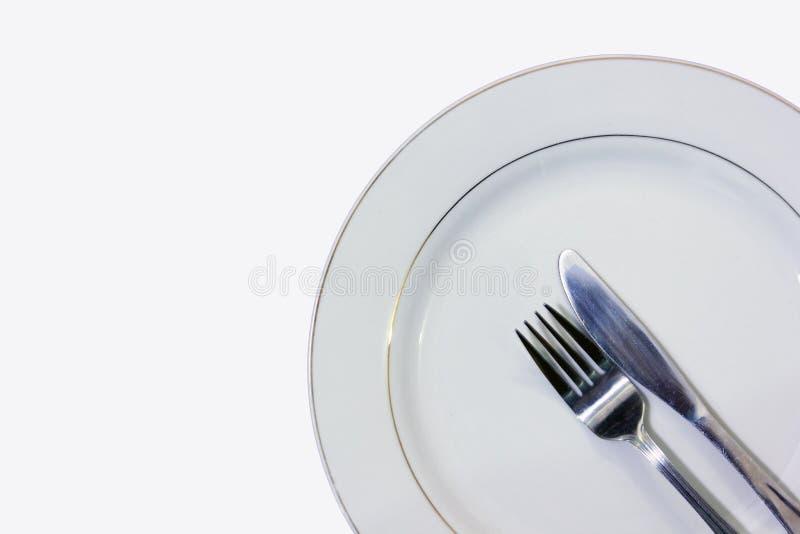 tom tabell för gaffelknivplatta arkivfoton