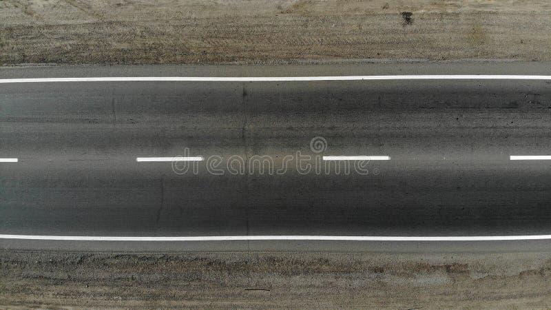 Tom textur för huvudvägasfaltväg Top besk?dar royaltyfri foto