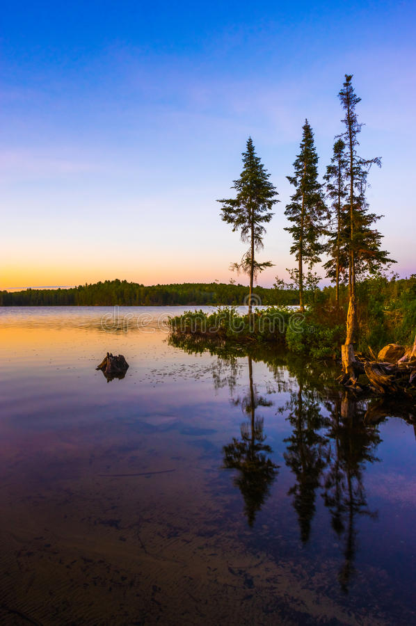 Tom Thomson Lake. Sunset on Tom Thomson Lake Algonquin Park royalty free stock photography