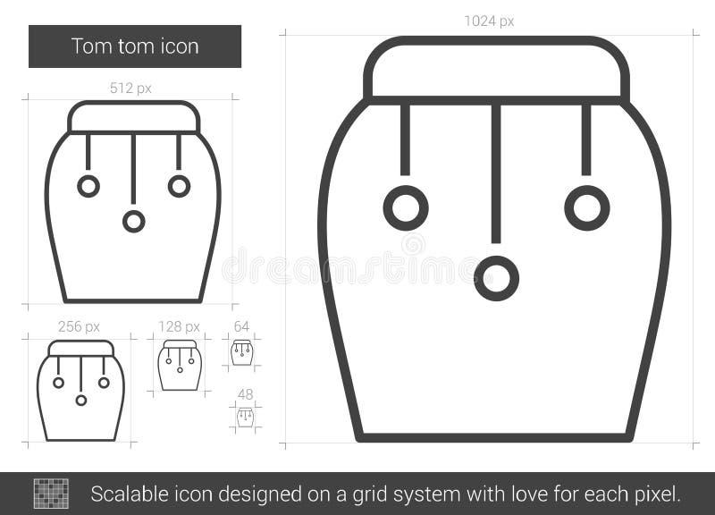 Tom tom linje symbol stock illustrationer