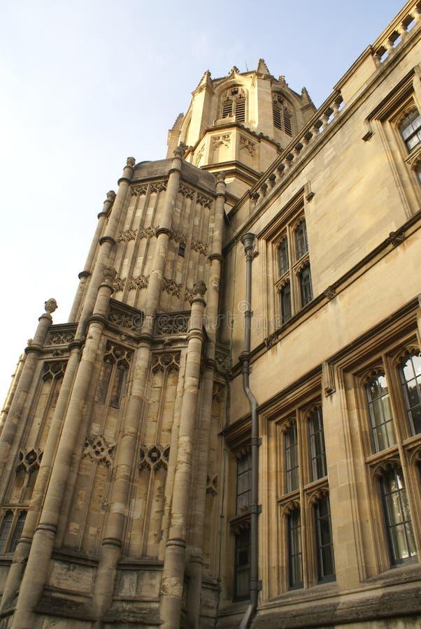 Tom Tower på Kristusdomkyrkahögskolan i St Aldate's, Oxford, England, Europa arkivbild