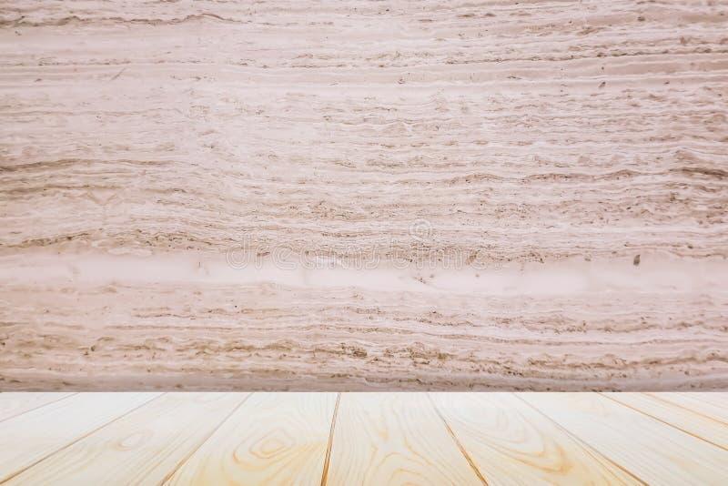 Tom trädäcktabell över trätapetbakgrund för närvarande produkt arkivfoton