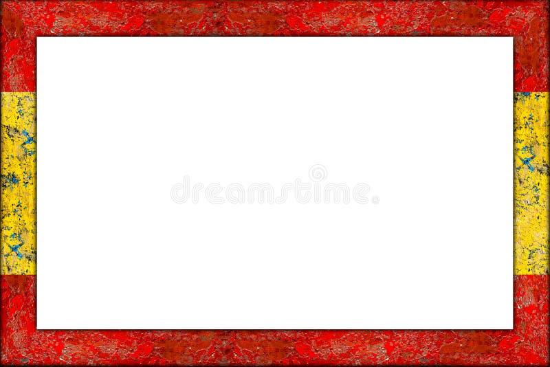 Tom trädesign för flagga för spanjor för bildram arkivfoto