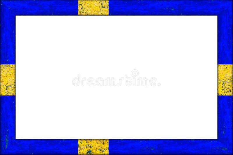 Tom träför Sverige för bildram svensk design flagga arkivfoton