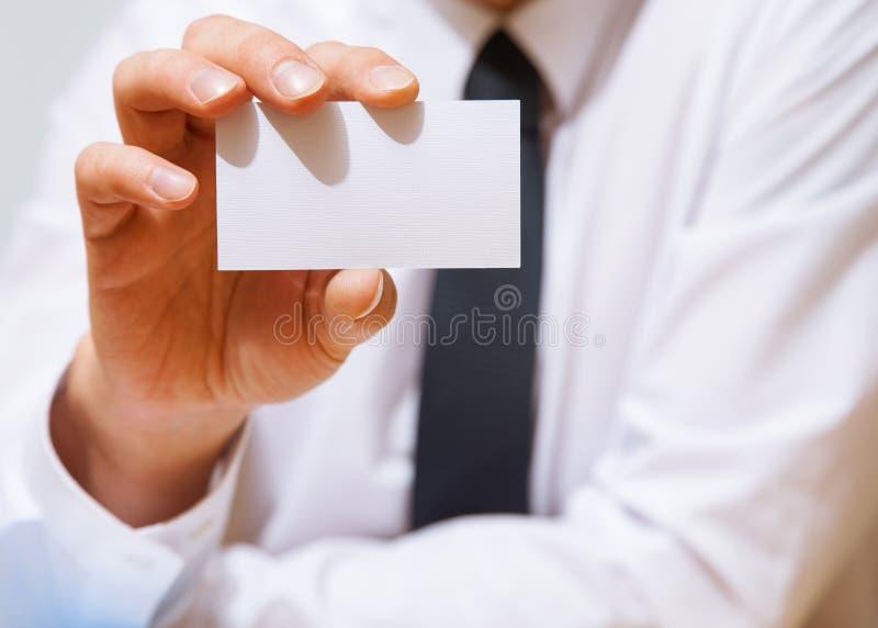 tom uppvisning för affärsaffärsmankort royaltyfria foton