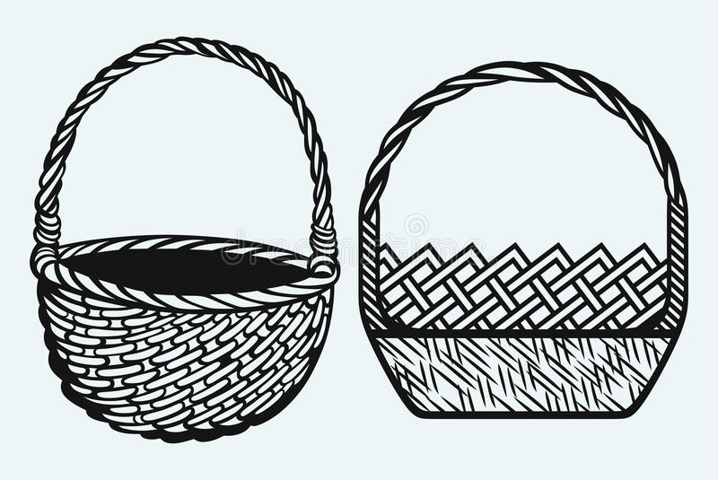 Tom vide- korg stock illustrationer