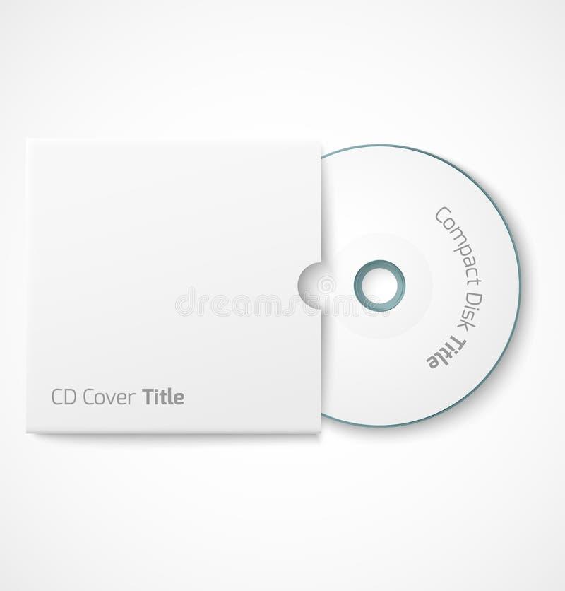 Tom vit CD med räkningsåtlöje upp royaltyfri illustrationer