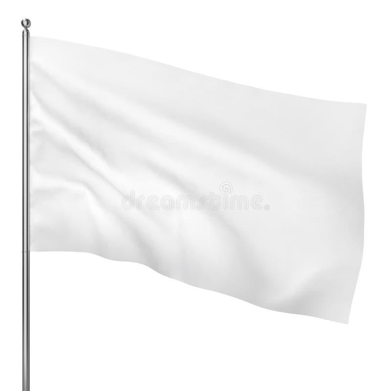 Tom vit flagga stock illustrationer