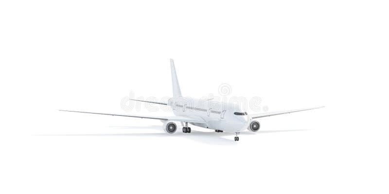 Tom vit flygplanmodellställning, främre sikt som isoleras vektor illustrationer