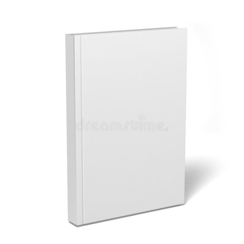 Tom vit katalog, tidskrifter, bokåtlöje upp på grå bakgrund illustrationen 3d framför stock illustrationer