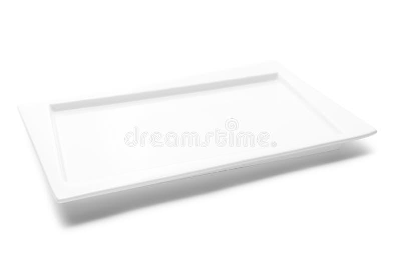 Tom vit platta som isoleras på vit arkivbilder