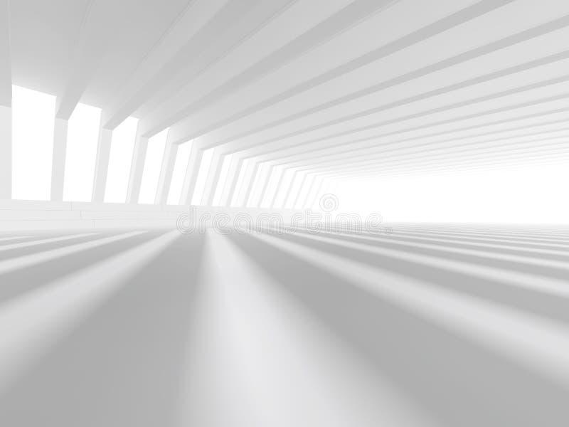 Tom vit tolkning för öppet utrymme 3D vektor illustrationer