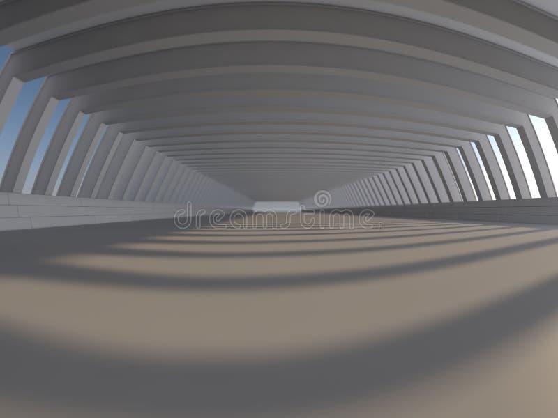 Tom vit tolkning för öppet utrymme 3D stock illustrationer