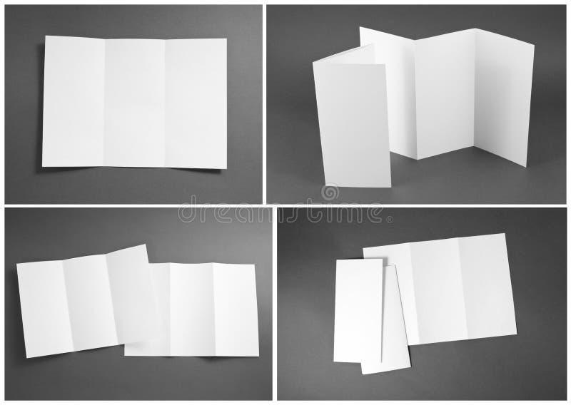 Tom vit vikningpappersreklamblad arkivbild