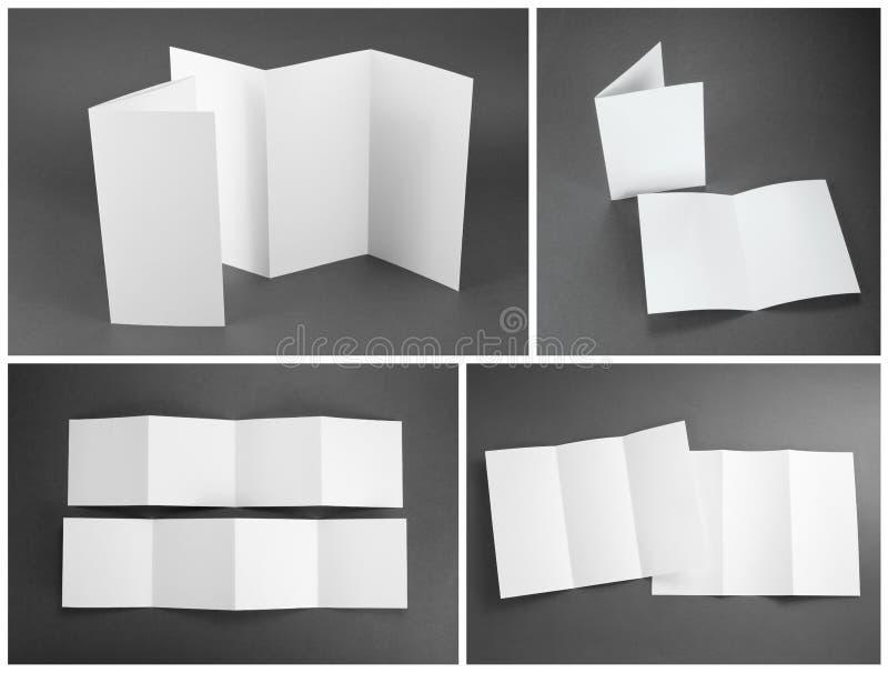 Tom vit vikningpappersreklamblad royaltyfri illustrationer