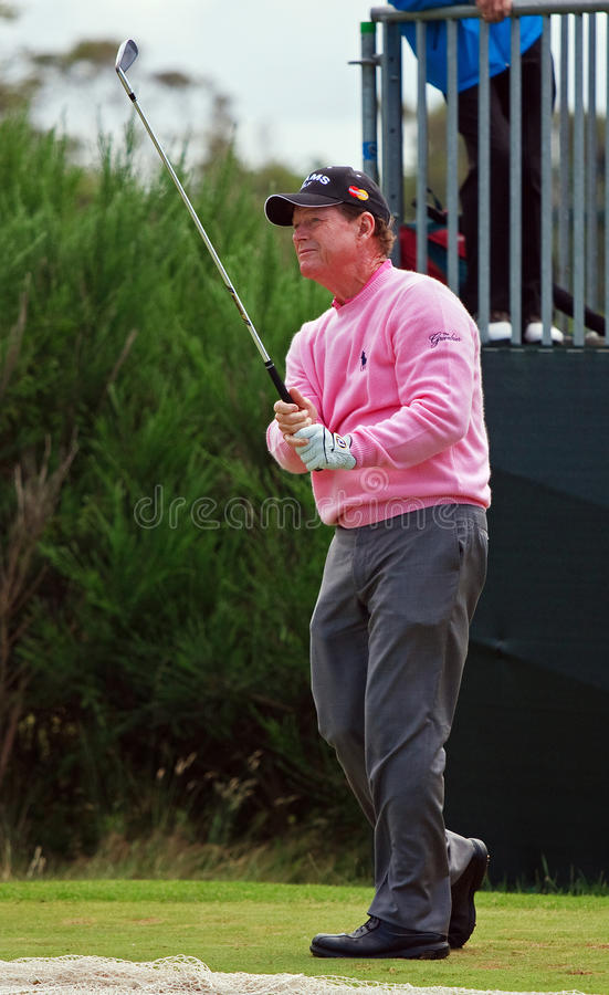 Tom Watson. American golfer Tom Watson on the final day of practice for the 2012 British Open Golf Championship played at Royal Lytham & St Annes between 19th royalty free stock images
