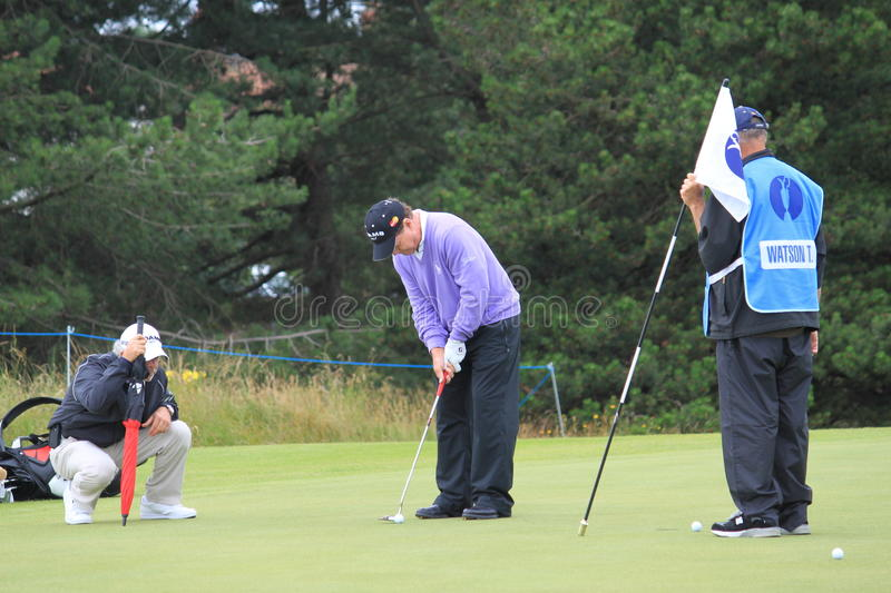 Tom Watson Putting On 8th Green Open Golf 2012 Editorial Image